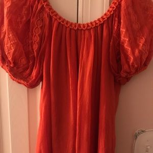 Moda International Orange top